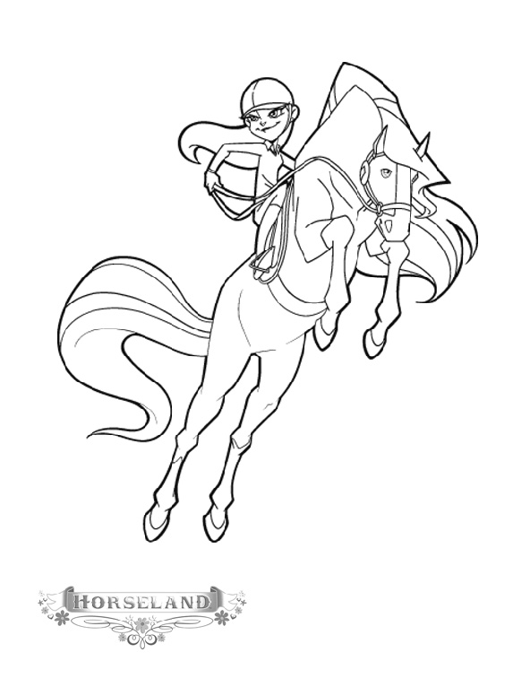 pferde horseland ausmalen