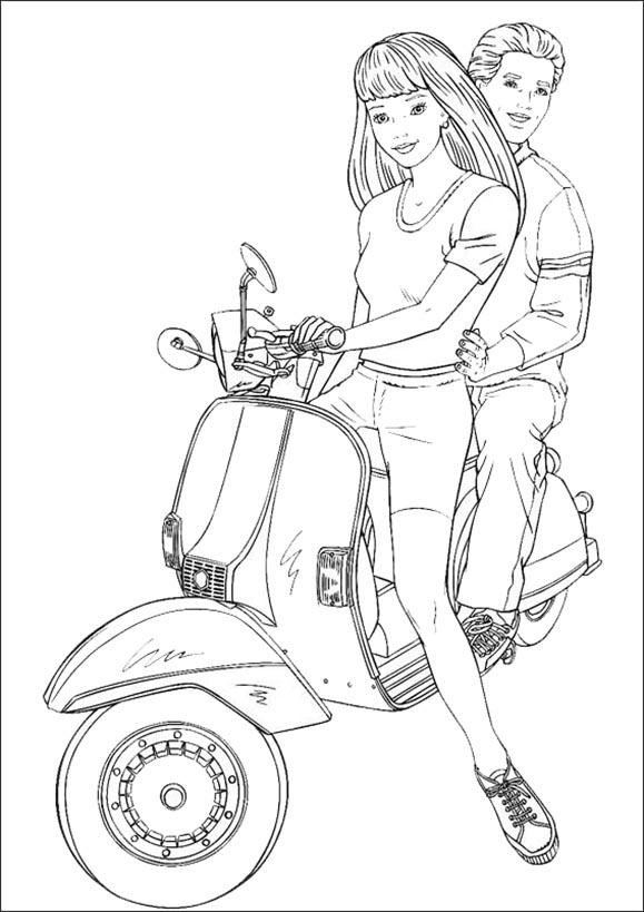barbie und ken motorrad