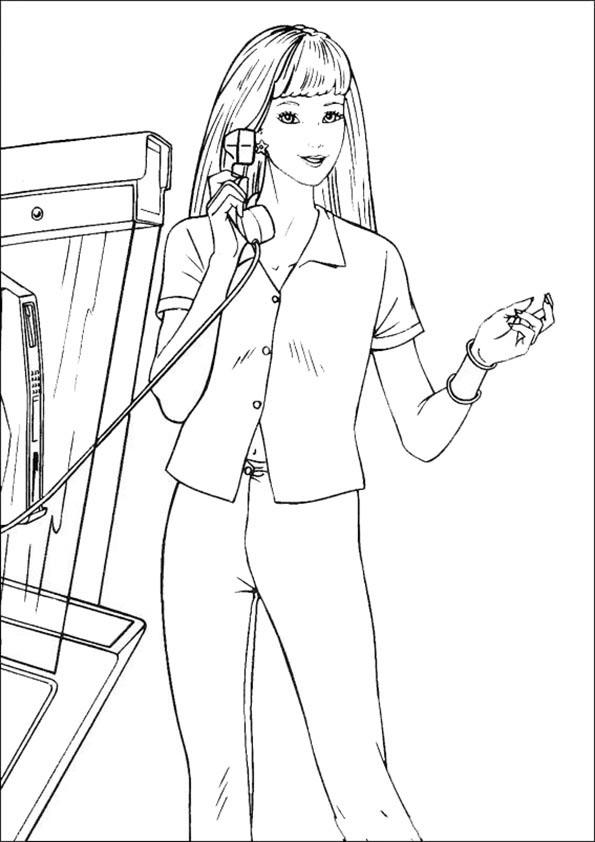 Barbie mit Telefon