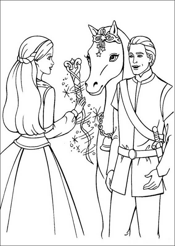 barbie, ken und ein pferde