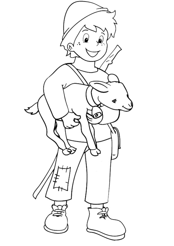 peter mit eine kleine ziege