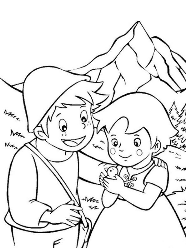 Heidi und Peter mit vogel