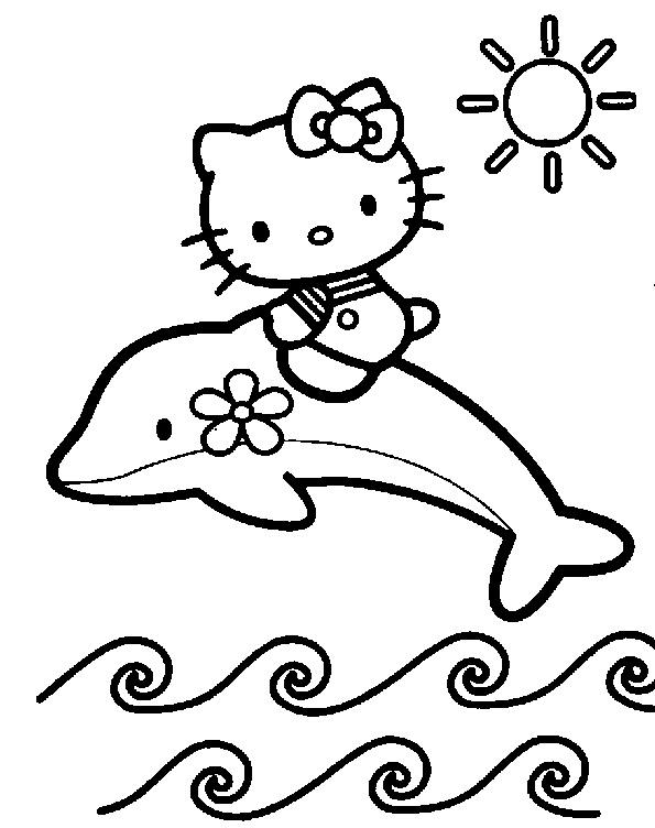 Hello Kitty und der Delfin