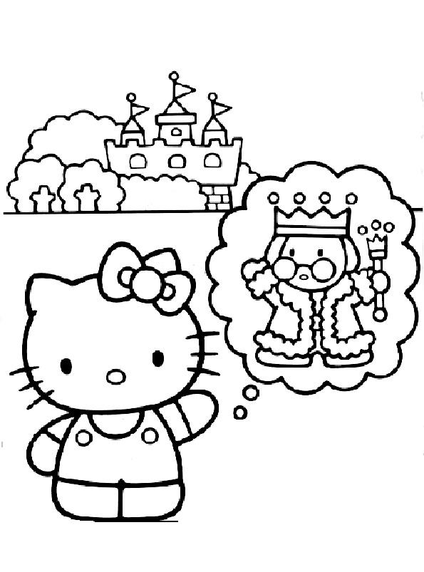 Hello Kitty denkt König
