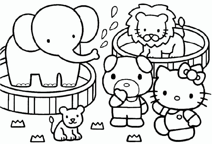Hello Kitty wäscht ihr Spielzeug