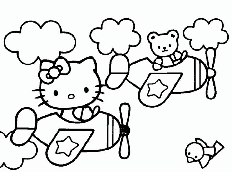 Hello Kitty im Flugzeug