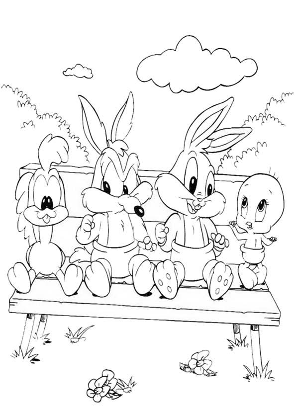 Vier baby looney tunes