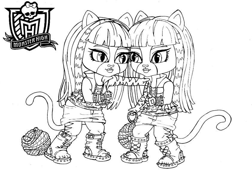 monster high baby purrsephone und meowlody