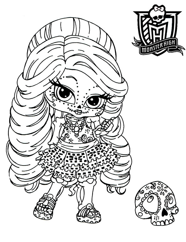 monster high skelita baby