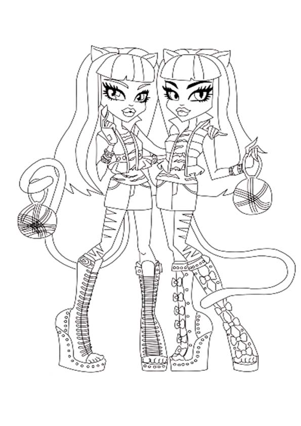monster high purrsephone und meowlody