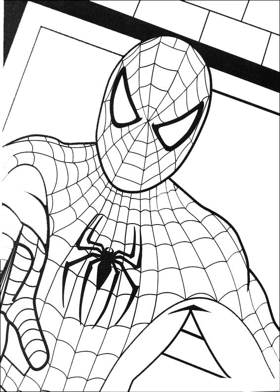 bilder spiderman 3 ausmalen