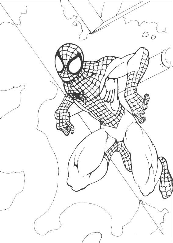 spiderman 10 ausmalen