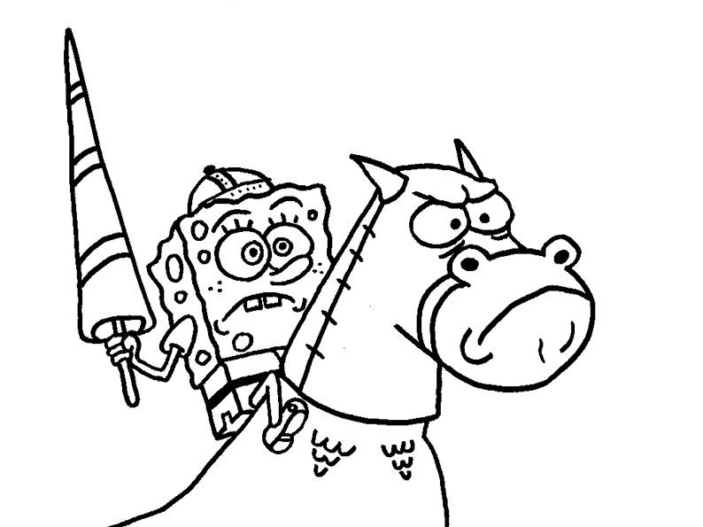 spongebob im pferde