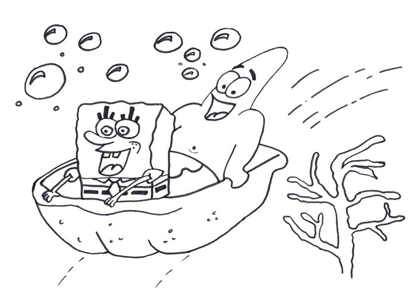 spongebob und patrick im boot