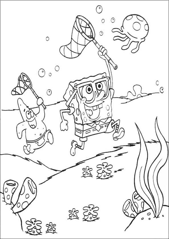 Spongebob und Patrick jagd