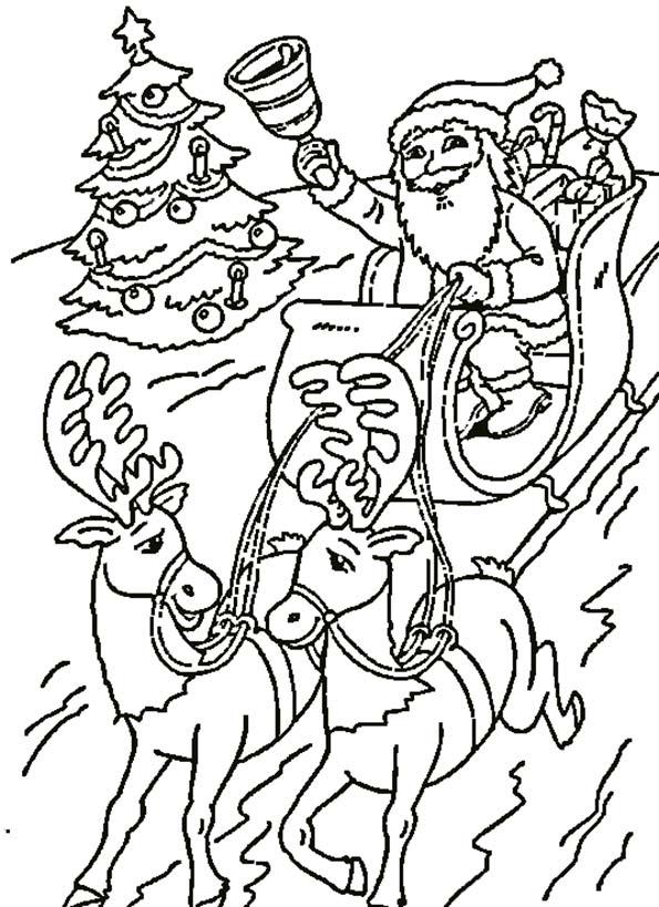 Nikolaus und seine Rentiere