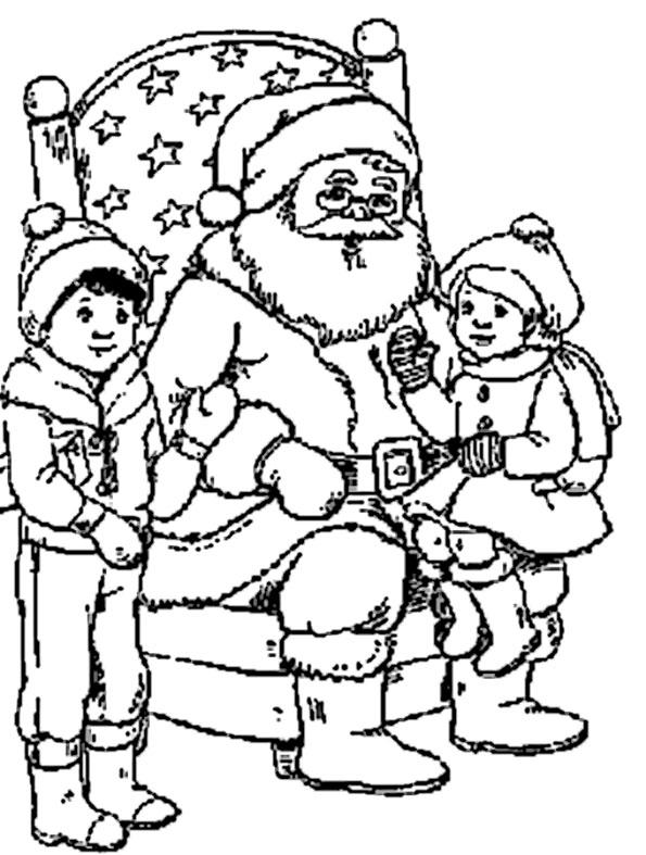 Nikolaus mit zwei Kinder