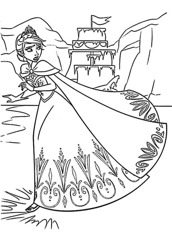 Anna die Eiskönigin zum ausmalen