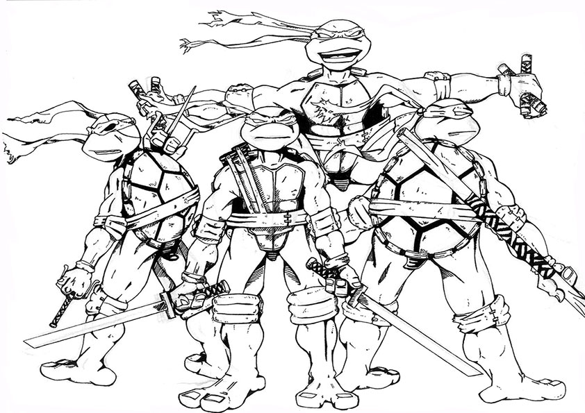ninja turtles malvorlagen-2