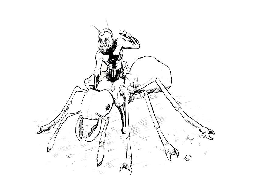 malvorlagen kostenlos ant-man -2