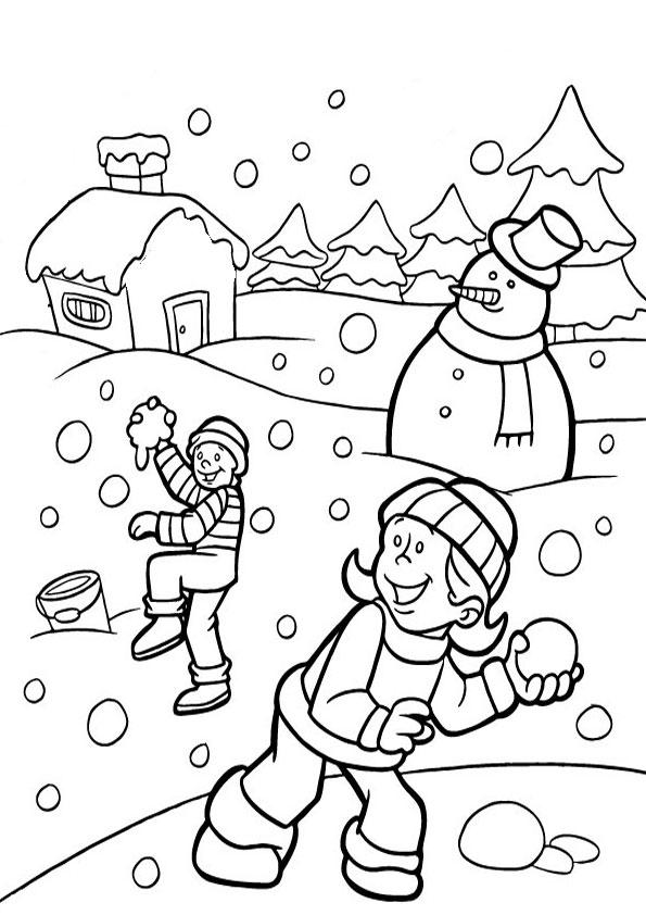 malvorlagen kostenlos winter -1